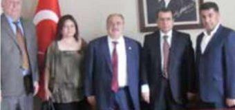İzmir Menemen Kaymakamı Mustafa Gürdal'ı ziyaret