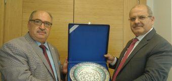 Genel Başkanımız Vakıfbank Genel Müdürü Sn. Mehmet Emin Özcan'ı Makamında Ziyaret Etti.