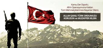 Allah Şanlı Türk Ordumuzu Korusun ve Muzaffer Kılsın
