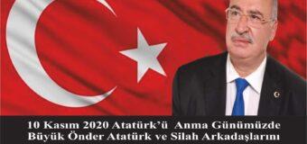10 Kasım 2020 Atatürk'ü Anma Günümüzde Büyük Önder Atatürk ve Silah Arkadaşlarını Saygı ve Rahmetle Anıyorum.