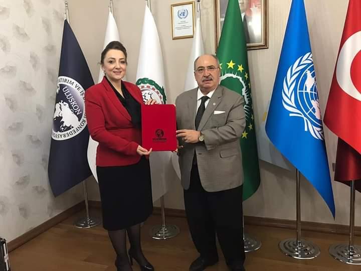 Kamu-Der'den ULUSKON Genel Başkanı Nezaket Emine Atasoy'a yılın iş kadını ödülü takdim edildi. (2020)